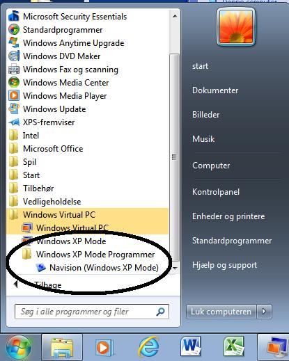 windows xp mode application not publishing